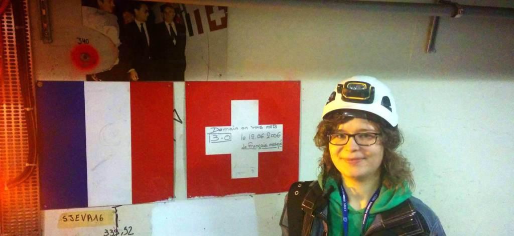 Katarzyna working at CERN