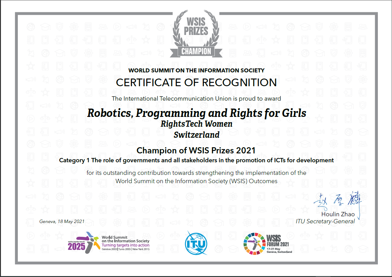 Certificate-WSIS-Category-1